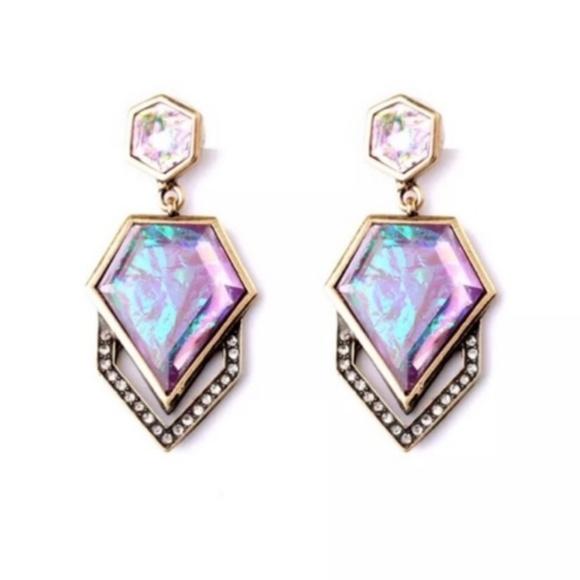 Jewelry - 5/$25 Beautiful Rose Gold Abalone Dangle Earrings